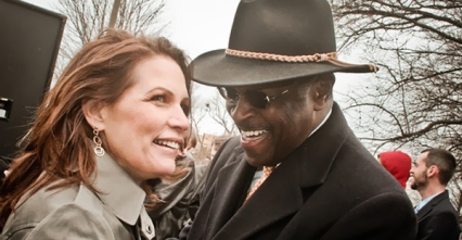 Herman Cain, sexually harassing Michele Bachmann