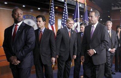 Tim Scott, Eric Cantor, Pete Sessions, Jeb Hensarling, John Boehner, Kevin McCarthy, Kristi Noem